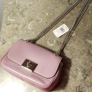 Lilac leather Super cute coach purse